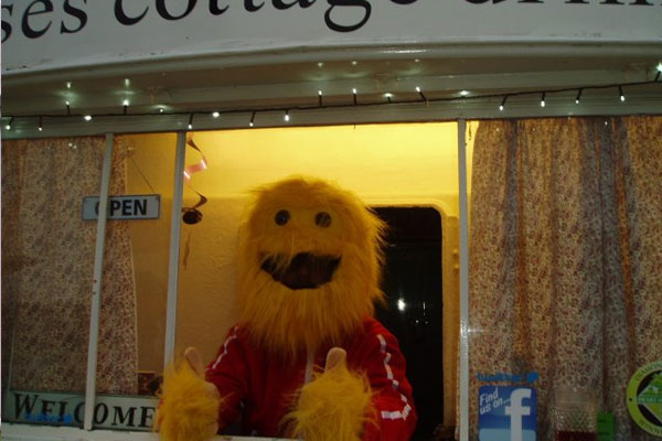 nurses cottage with Honey Monster